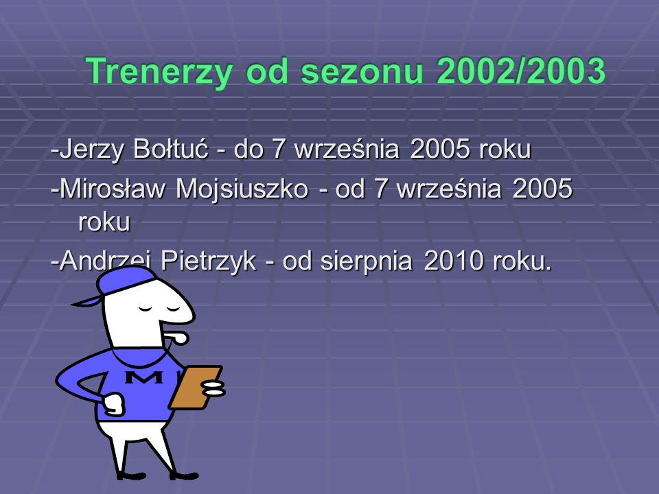 -Jerzy Bołtuć - do 7 września 2005 roku -Mirosław Mojsiuszko - od 7 września 2005 roku -Andrzej Pietrzyk - od sierpnia 2010 roku.