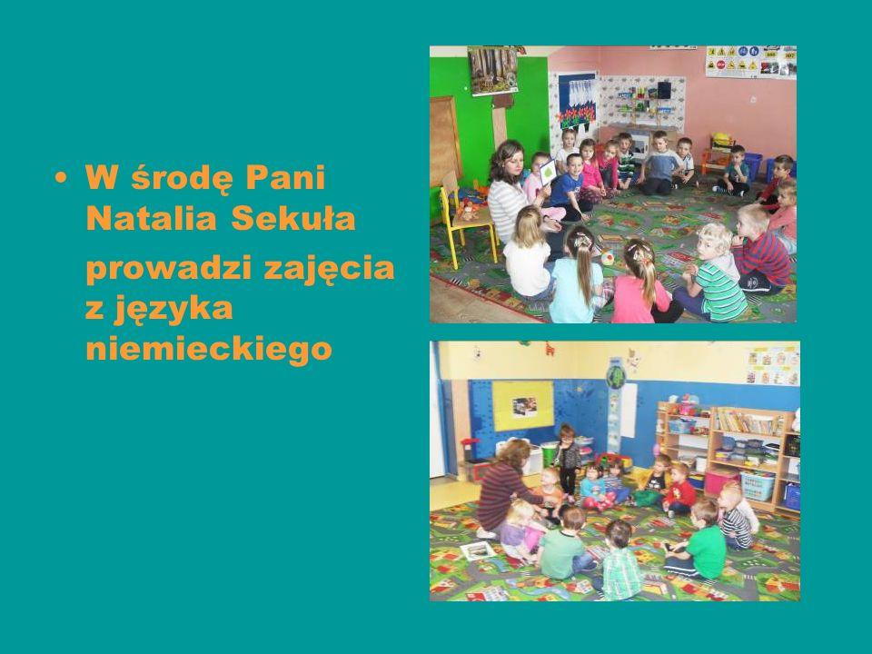 W środę Pani Natalia Sekuła prowadzi zajęcia z języka niemieckiego