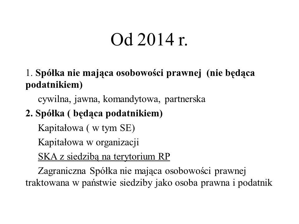 Od 2014 r. 1.