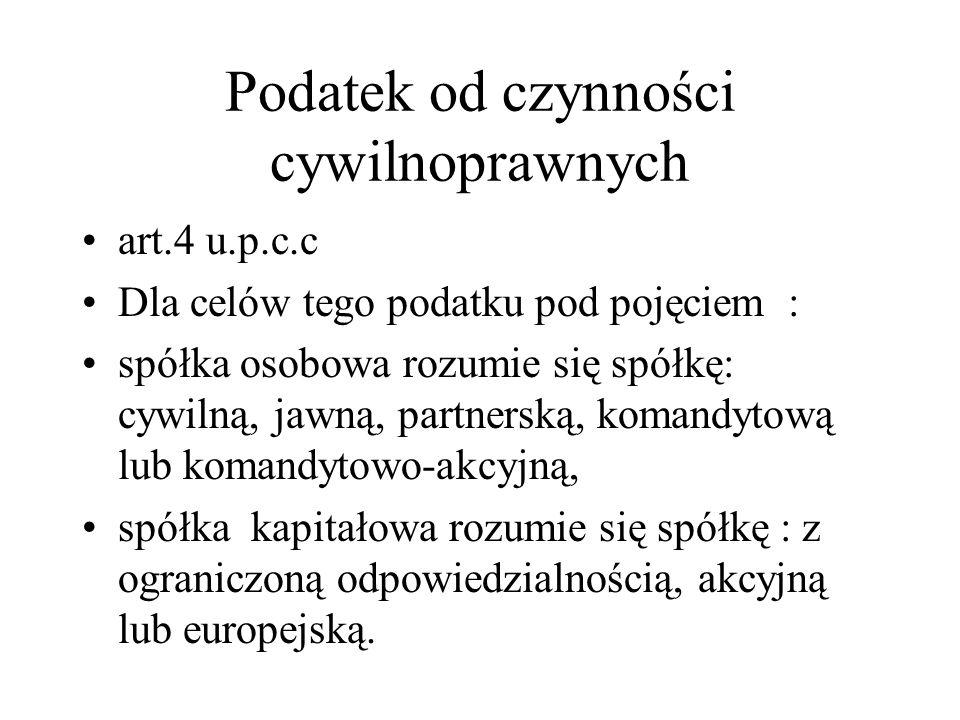 Podatek od czynności cywilnoprawnych TSUE - spółka komandytowo-akcyjna prawa polskiego jest spółką kapitałową w rozumieniu dyrektywy.