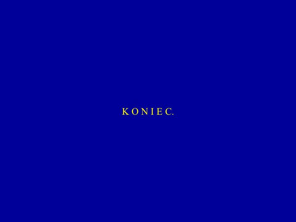 K O N I E C.