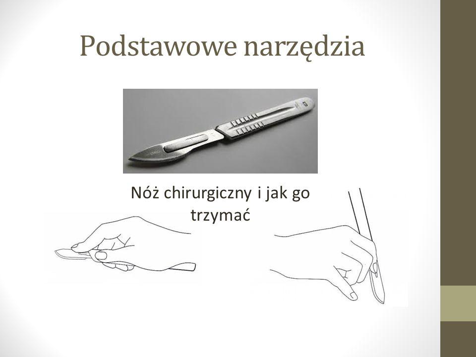 Podstawowe narzędzia Nóż chirurgiczny i jak go trzymać