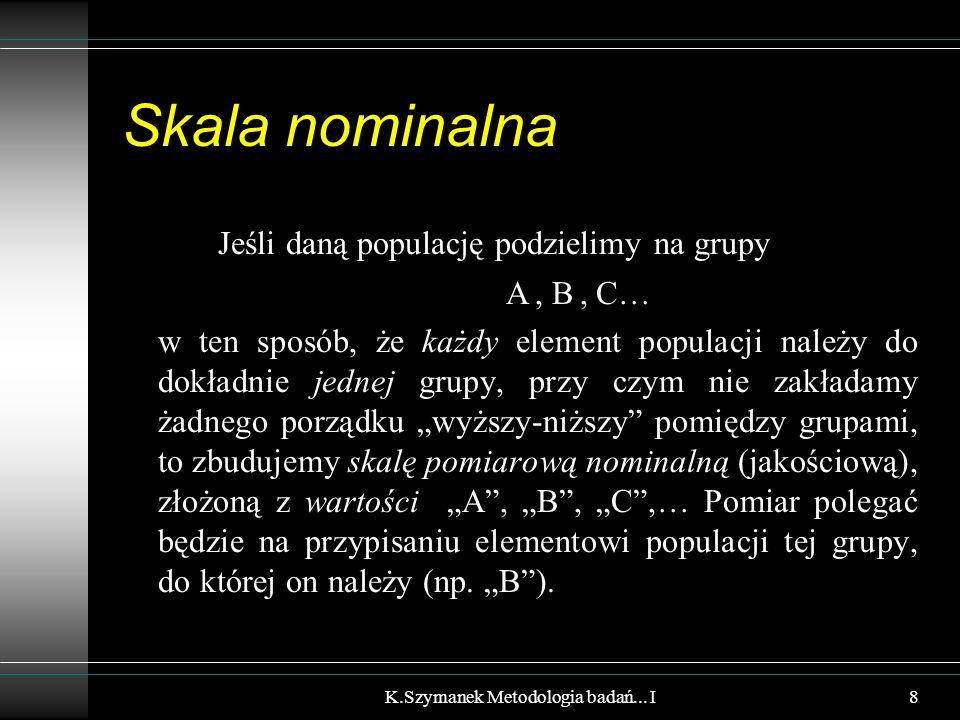 Podział AB C D E F K.Szymanek Metodologia badań... I9