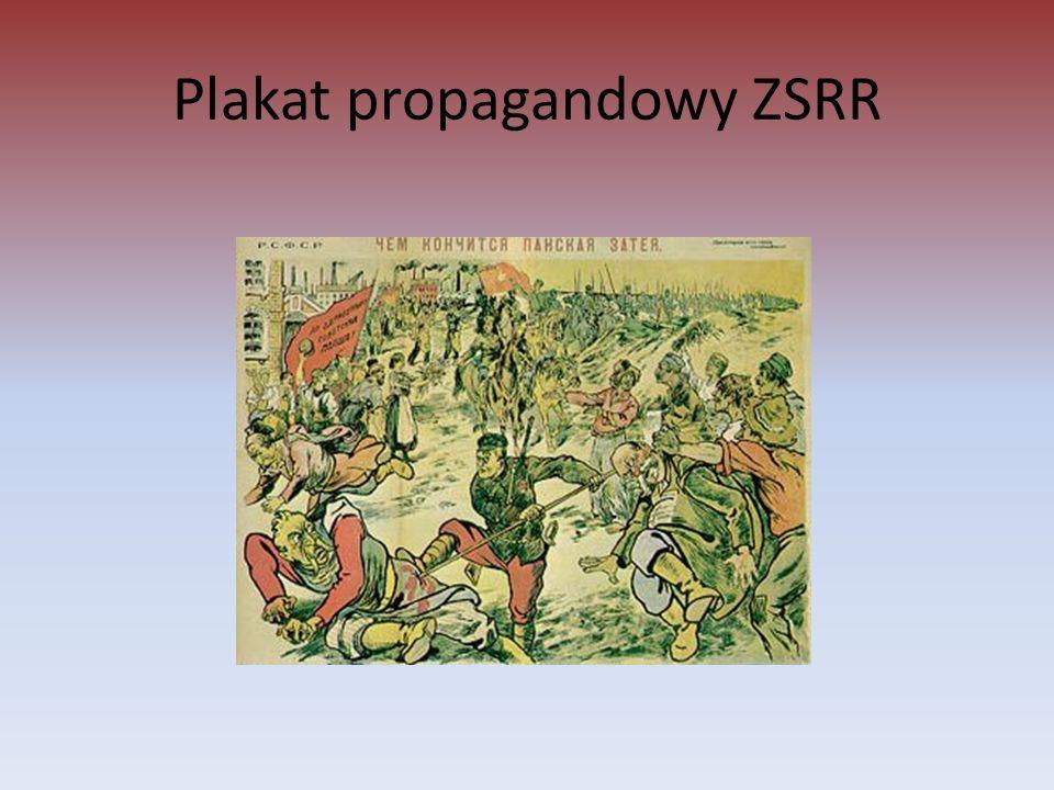 Plakat propagandowy ZSRR