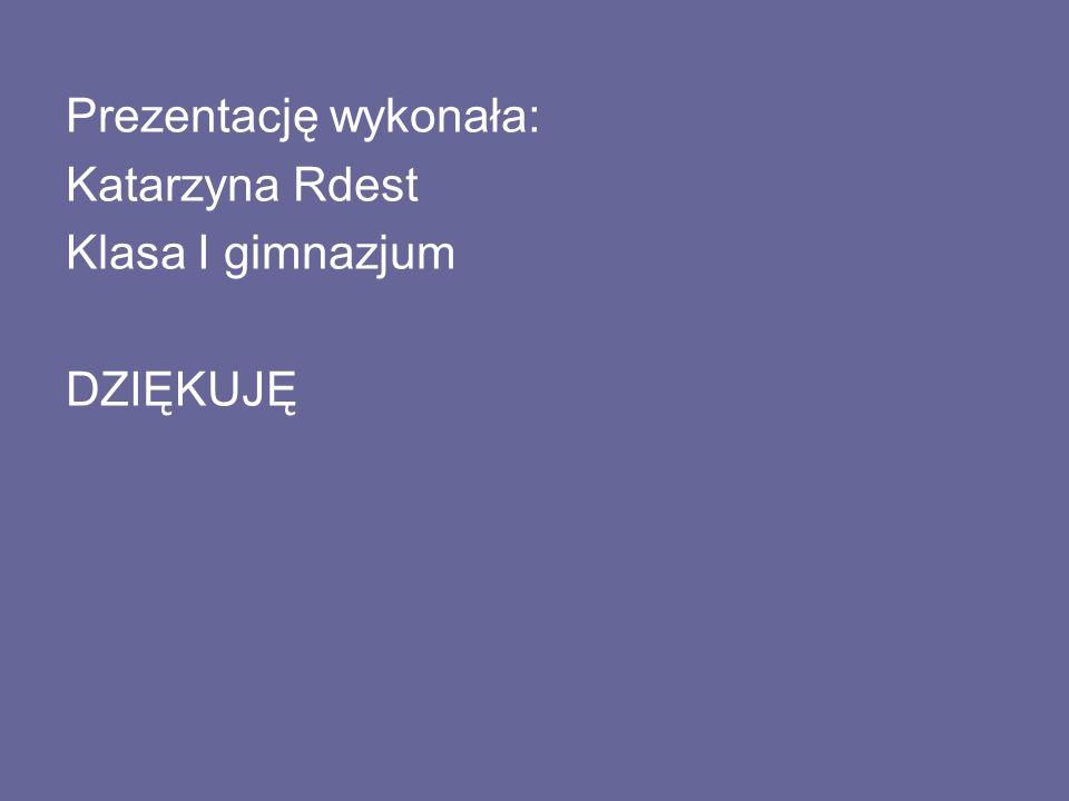 Prezentację wykonała: Katarzyna Rdest Klasa I gimnazjum DZIĘKUJĘ