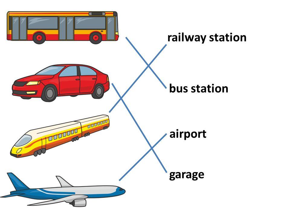 railway station bus station garage airport