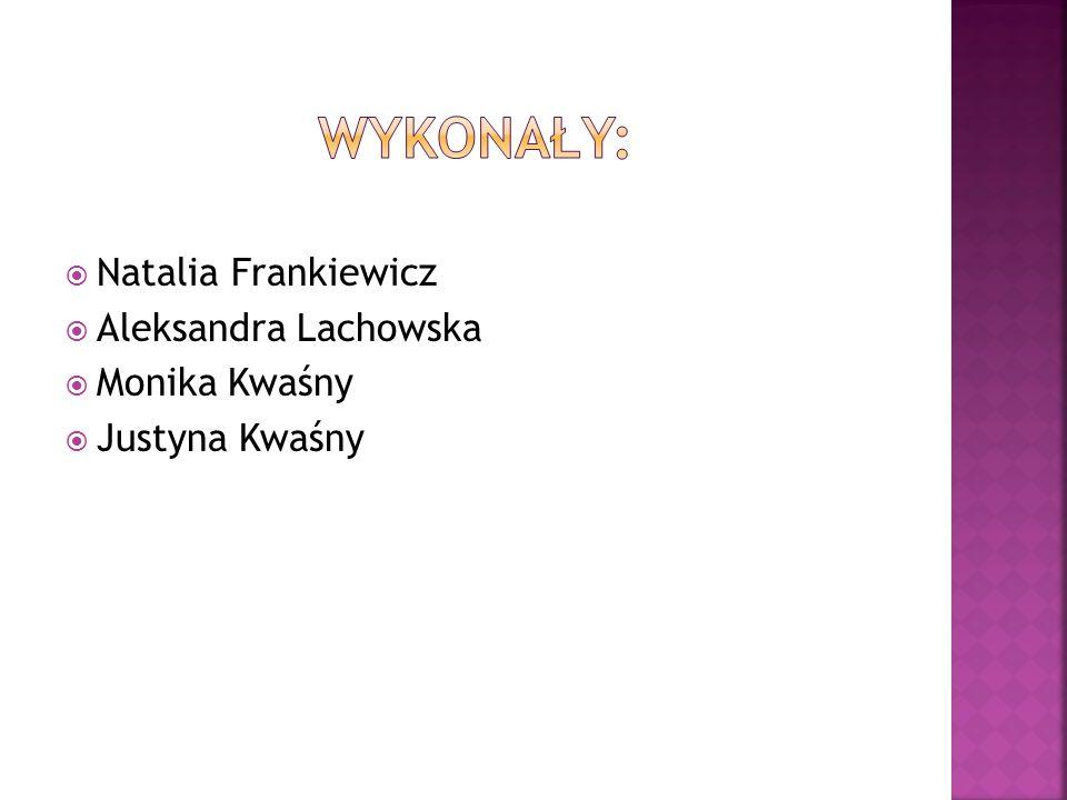  Natalia Frankiewicz  Aleksandra Lachowska  Monika Kwaśny  Justyna Kwaśny