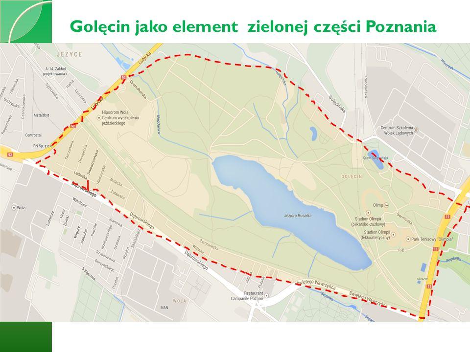 Golęcin jako element zielonej części Poznania