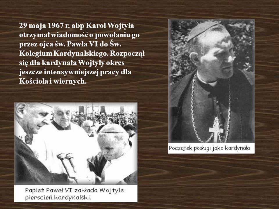18 stycznia 1964 r. ks. bp Karol Wojtyła został mianowany arcybiskupem ordynariuszem krakowskim. Od tego czasu wzmożył kontakty z kościołami lokalnymi