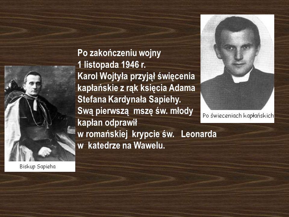 Dla Karola Wojtyły okres wojny to lata ciężkiej pracy w Solvayu i nauki - od października 1942 r. brał udział w tajnych kompletach teologicznych Semin
