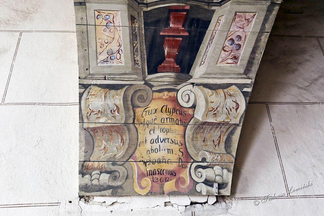 Ambona wykonana około 1750 r. w BraniewieSchody na ambonę
