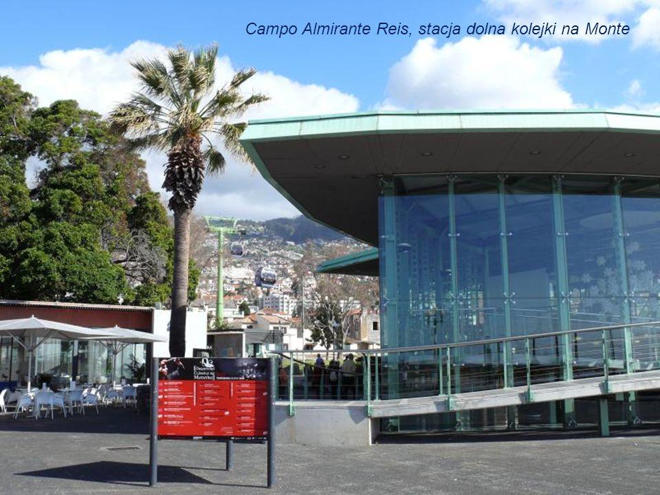 Niebieski= trasa kolejki linowej Funchal promenada nad oceanem do Funchal - Monte czerwony= trasa wiklinowych toboganów Funchal Monte do Funchal – Liv