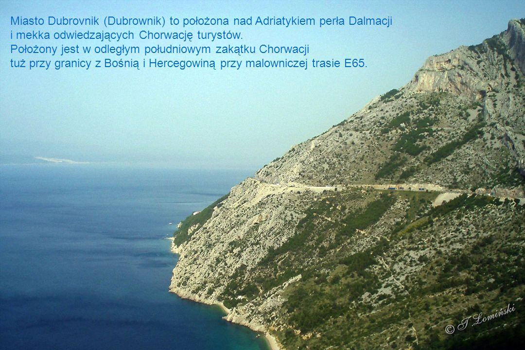 Klif od strony południowej wyspy Lokrum położonej 600 metrów od Dubrovnika.