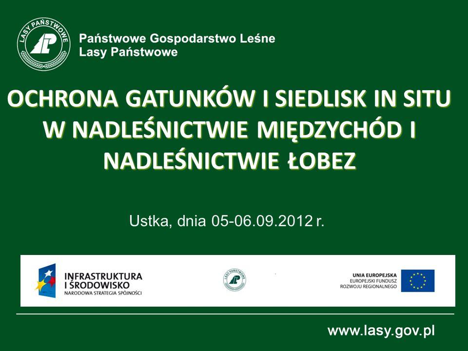 OCHRONA GATUNKÓW I SIEDLISK IN SITU W NADLEŚNICTWIE MIĘDZYCHÓD I NADLEŚNICTWIE ŁOBEZ Ustka, dnia 05-06.09.2012 r.