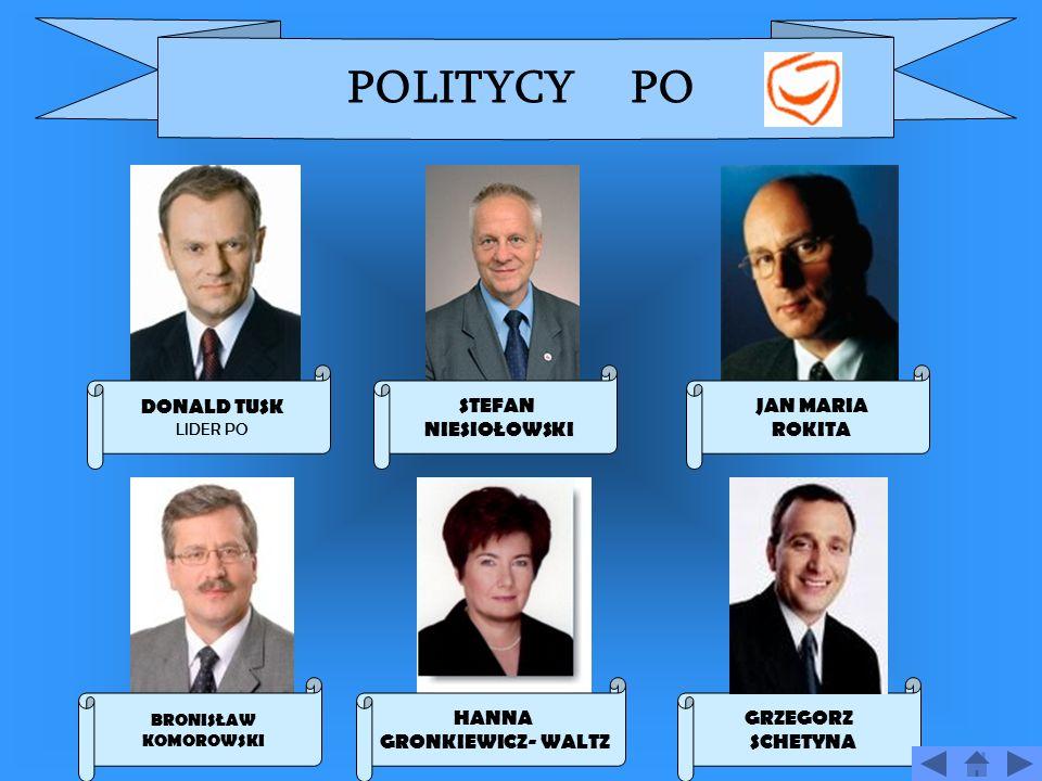 PLATFORMA OBYWATELSKA DONALD TUSK LIDER Data zało ż enia 19 stycznia 2001 Siedziba ul.