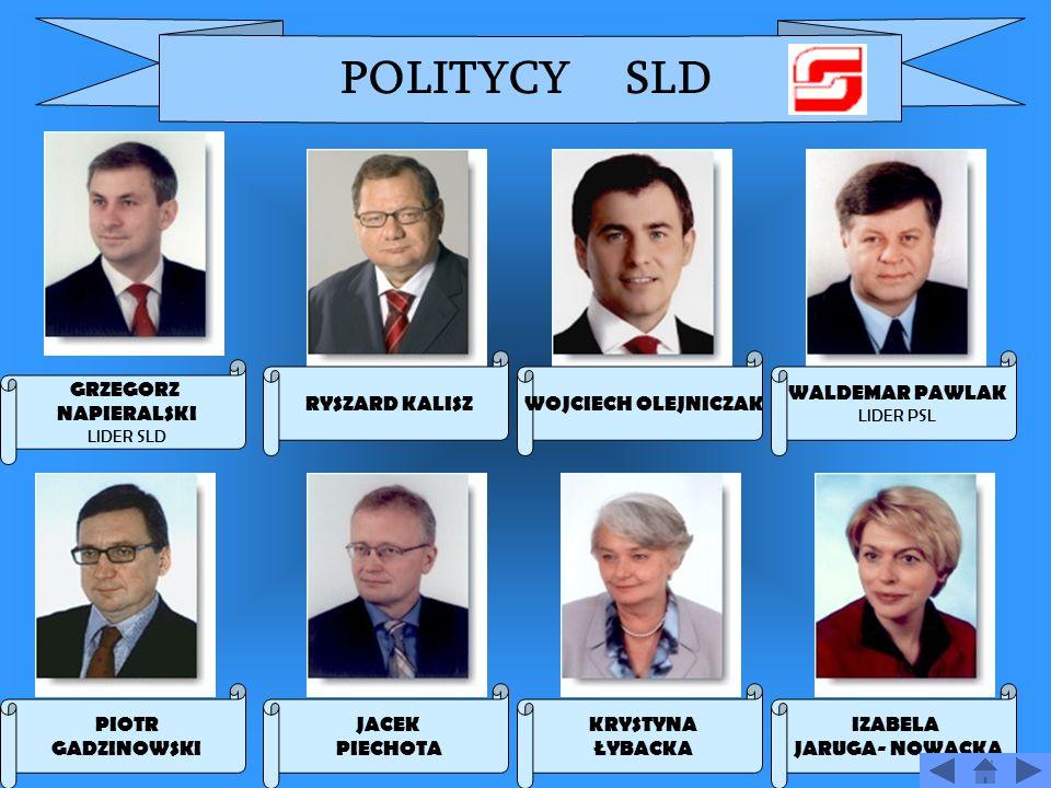SOJUSZ LEWICY DEMOKRATYCZNEJ Grzegorz Napieralski LIDER Data zało ż enia 15 kwietnia 1999 Siedziba ul.