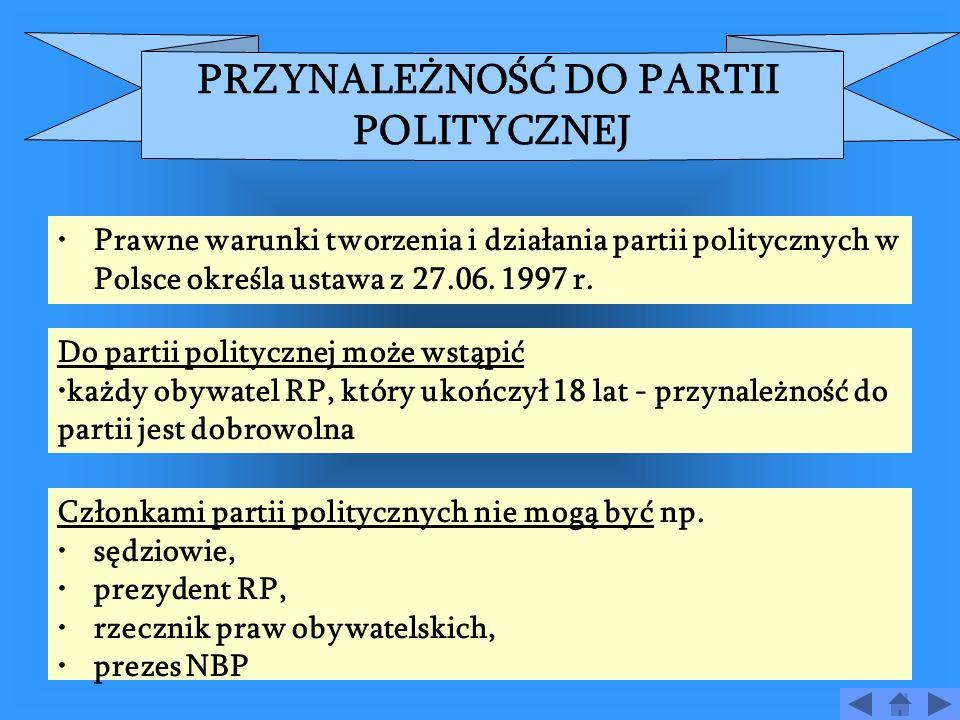 PARTIA POLITYCZNA - DEFINICJA 1.Partia polityczna to grupa społeczna: o wyodrębnionej strukturze organizacyjnej, mająca przywództwo, określony system wartości, program polityczny cel, którym jest zdobycie władzy w państwie bądź jej utrzymanie i umocnienie.