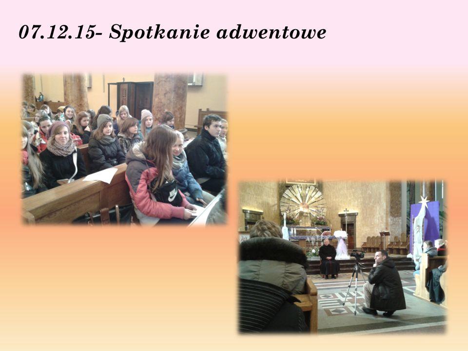 07.12.15- Spotkanie adwentowe