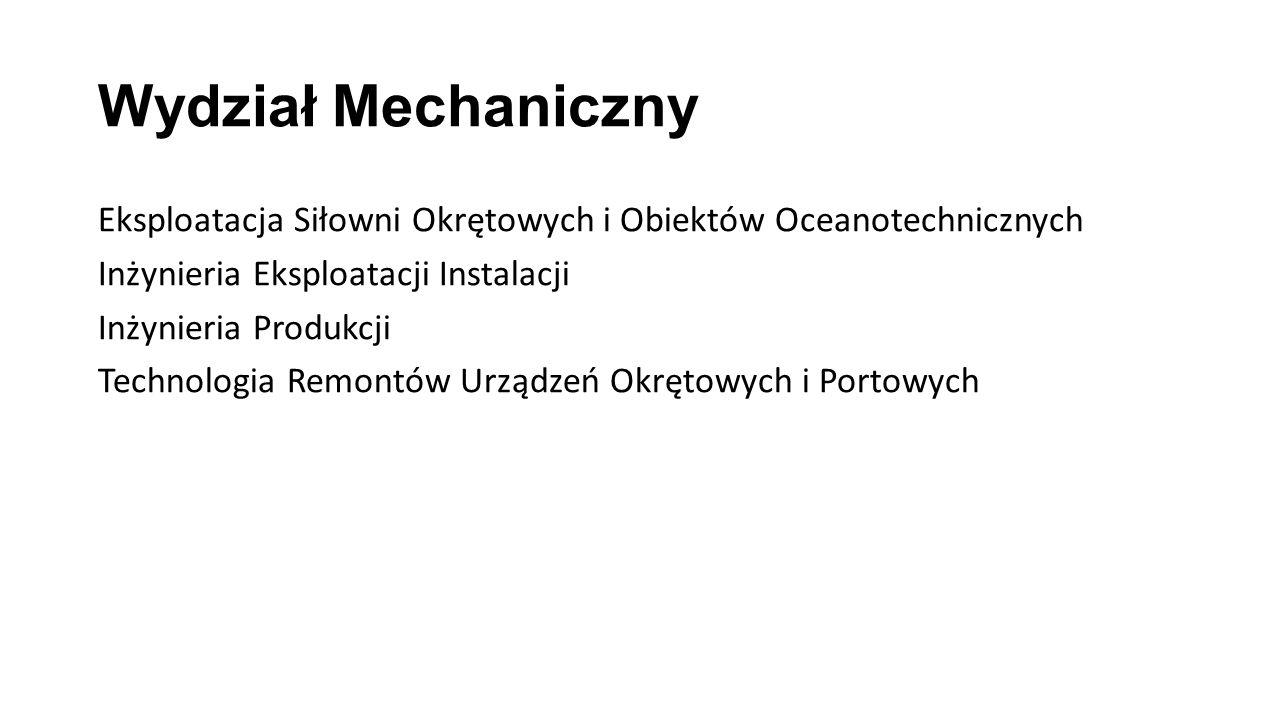 Wydział Nawigacyjny Transport i Logistyka Transport Morski