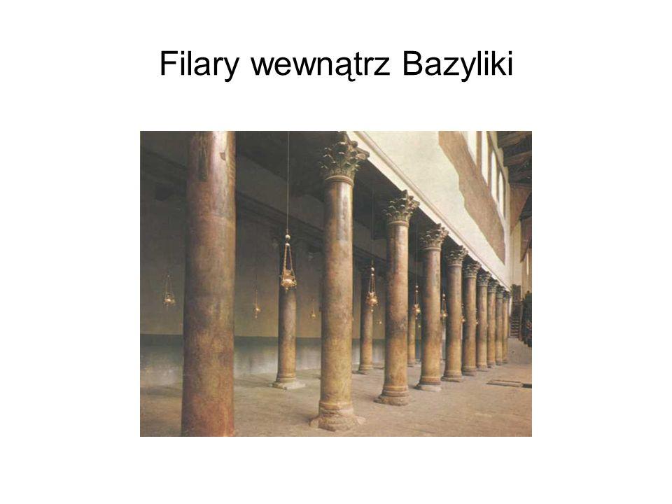 Filary wewnątrz Bazyliki