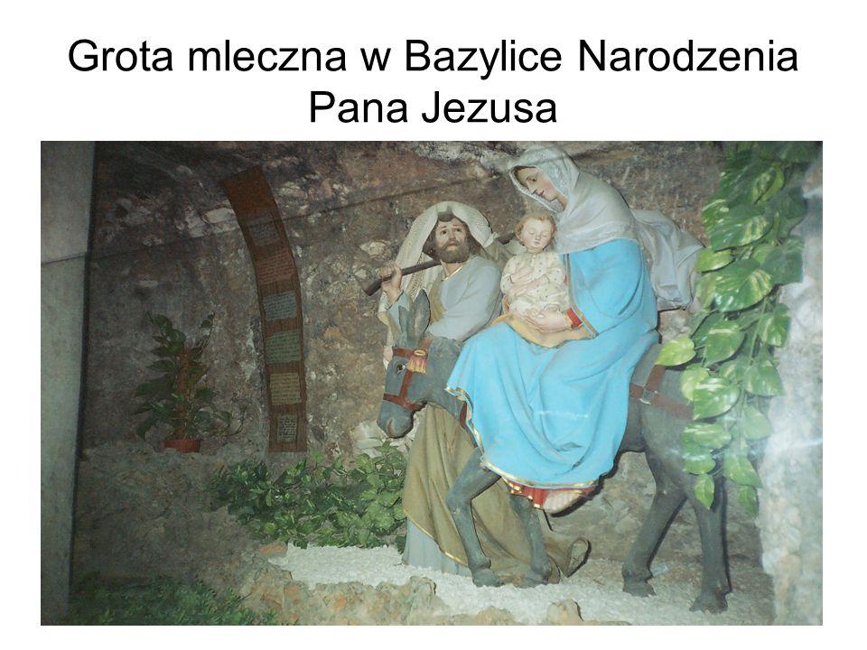 Grota mleczna w Bazylice Narodzenia Pana Jezusa