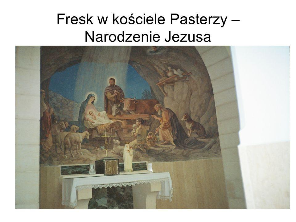 Fresk w kościele Pasterzy – Narodzenie Jezusa