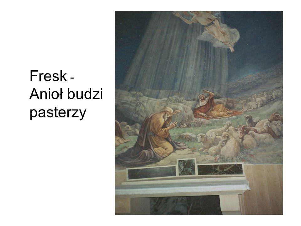Fresk - Anioł budzi pasterzy