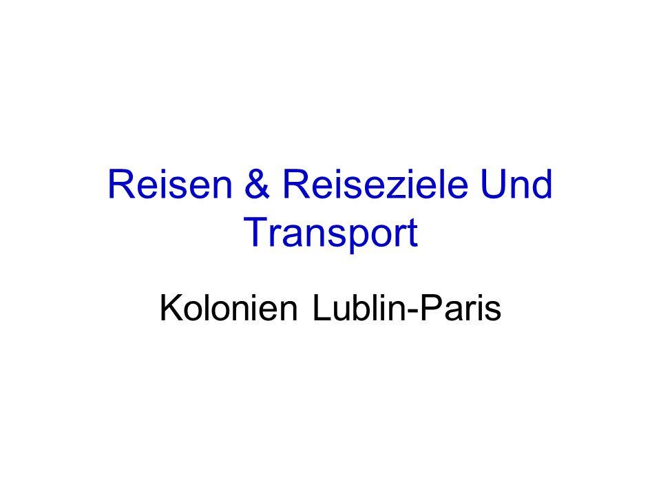 Reisen & Reiseziele Und Transport Kolonien Lublin-Paris