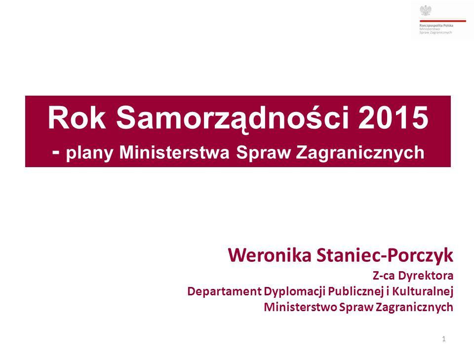 Weronika Staniec-Porczyk Z-ca Dyrektora Departament Dyplomacji Publicznej i Kulturalnej Ministerstwo Spraw Zagranicznych 1 Rok Samorządności 2015 - pl