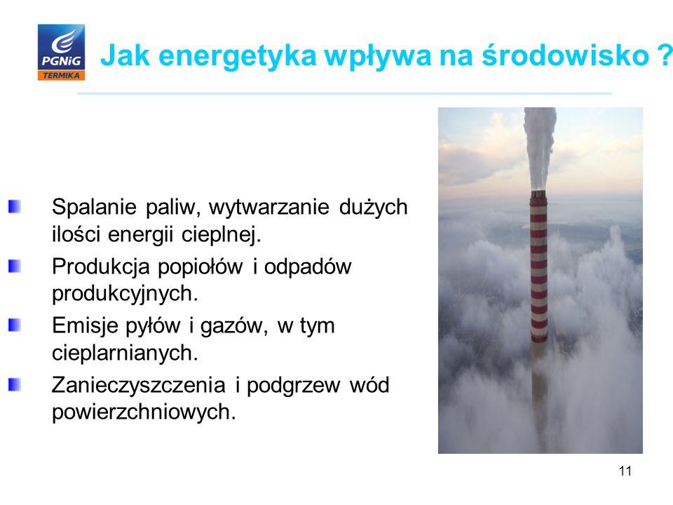11 Jak energetyka wpływa na środowisko .