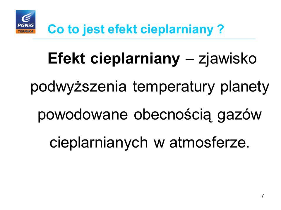 7 Co to jest efekt cieplarniany .