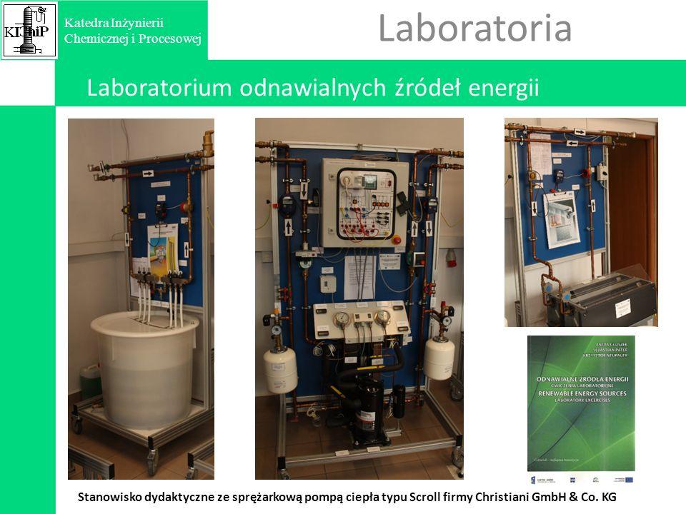 Laboratoria Laboratorium odnawialnych źródeł energii Stanowisko dydaktyczne ze sprężarkową pompą ciepła typu Scroll firmy Christiani GmbH & Co.