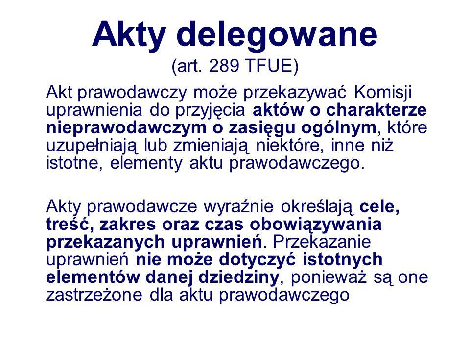 Akty delegowane (art.