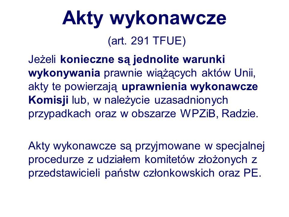 Akty wykonawcze (art.