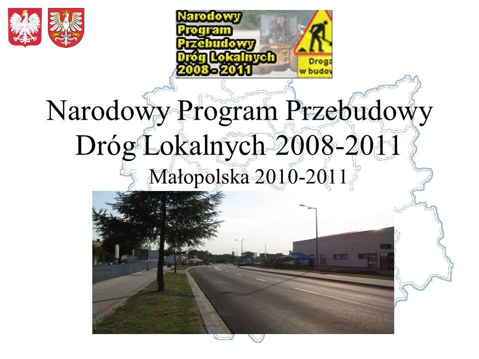 Narodowy Program Przebudowy Dróg Lokalnych 2008-2011 Małopolska 2010-2011