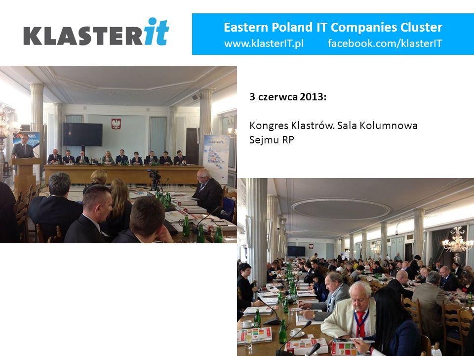 Eastern Poland IT Companies Cluster www.klasterIT.pl facebook.com/klasterIT 3 czerwca 2013: Kongres Klastrów.