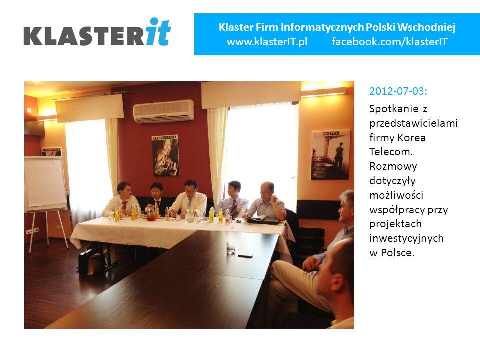 2012-07-03: Spotkanie z przedstawicielami firmy Korea Telecom.