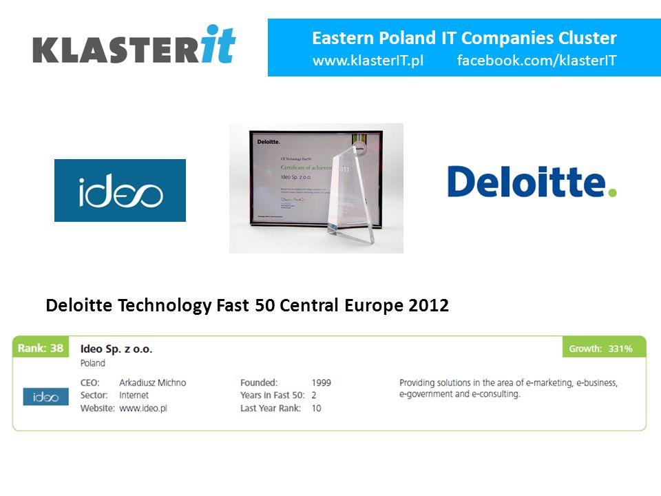 Eastern Poland IT Companies Cluster www.klasterIT.pl facebook.com/klasterIT