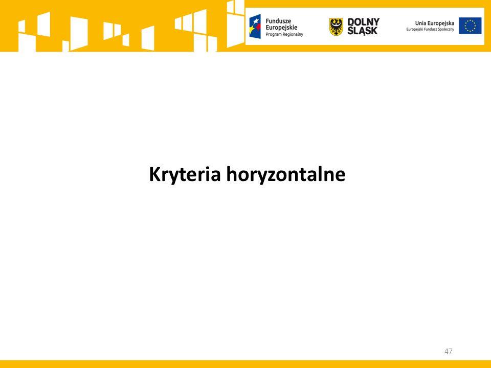 Kryteria horyzontalne 47