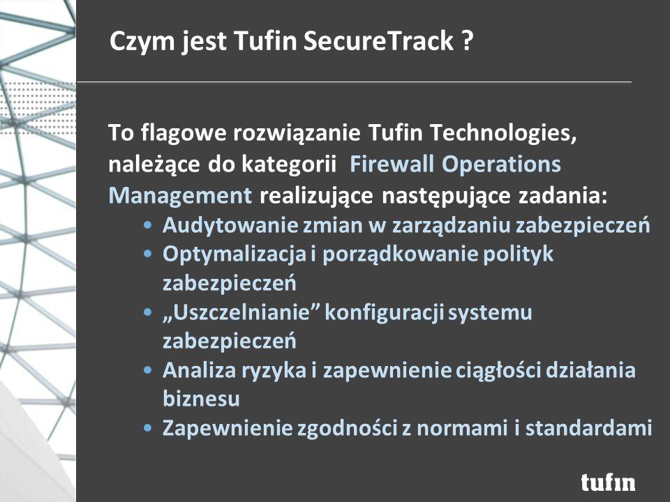 Czym jest Tufin SecureTrack .