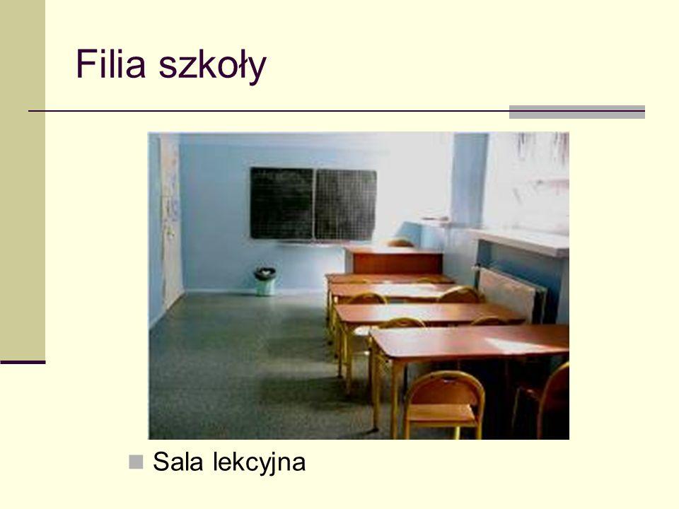 Filia szkoły Sala lekcyjna