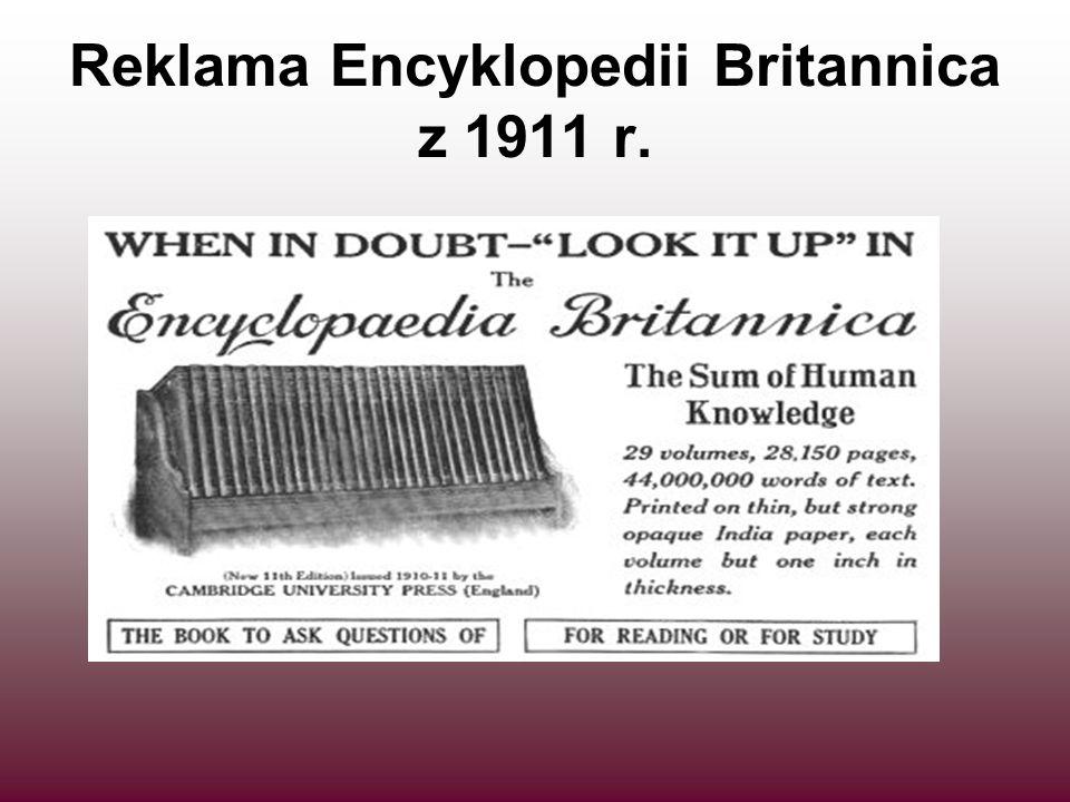 Reklama Encyklopedii Britannica z 1911 r.