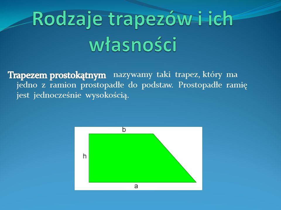 Ad b) Z własności trapezu równoramiennego i z tzw.