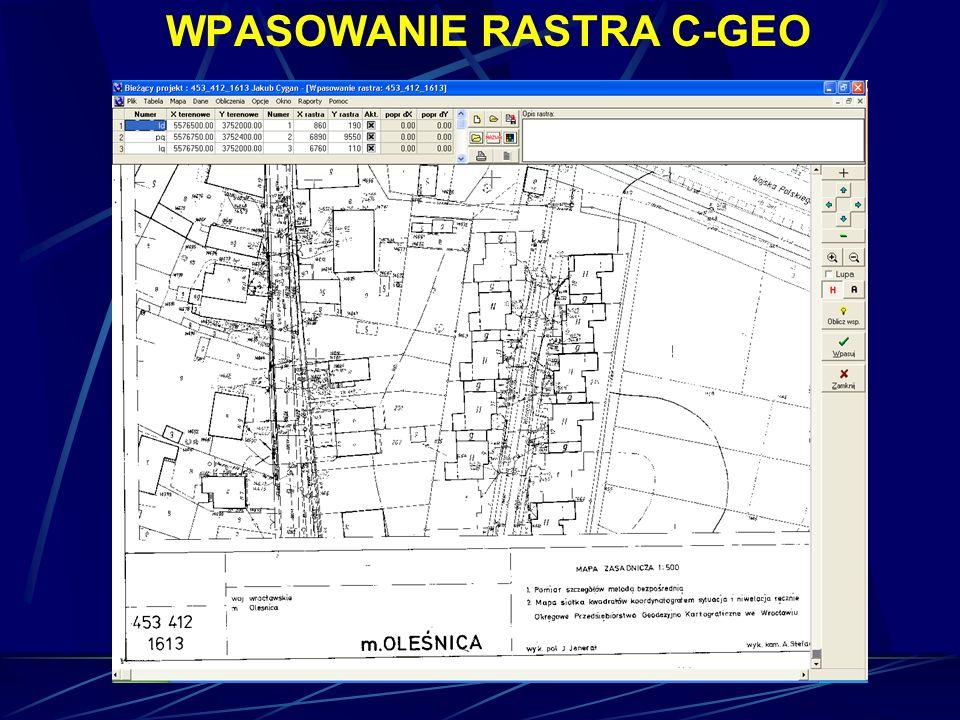 WPASOWANIE RASTRA C-GEO