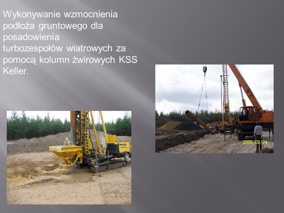 Przygotowanie terenu pod budow ę dróg, placów monta ż owych i fundamentów turbozespołów wiatrowych.