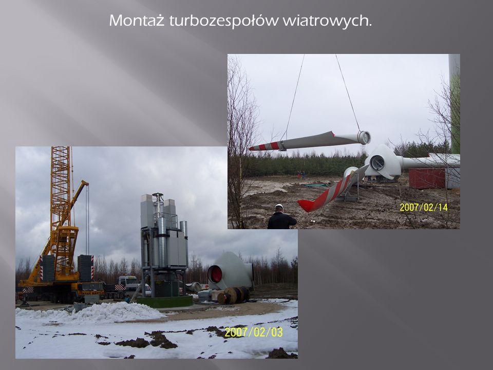 Transport elementów turbozespołów wiatrowych na miejsce monta ż u.