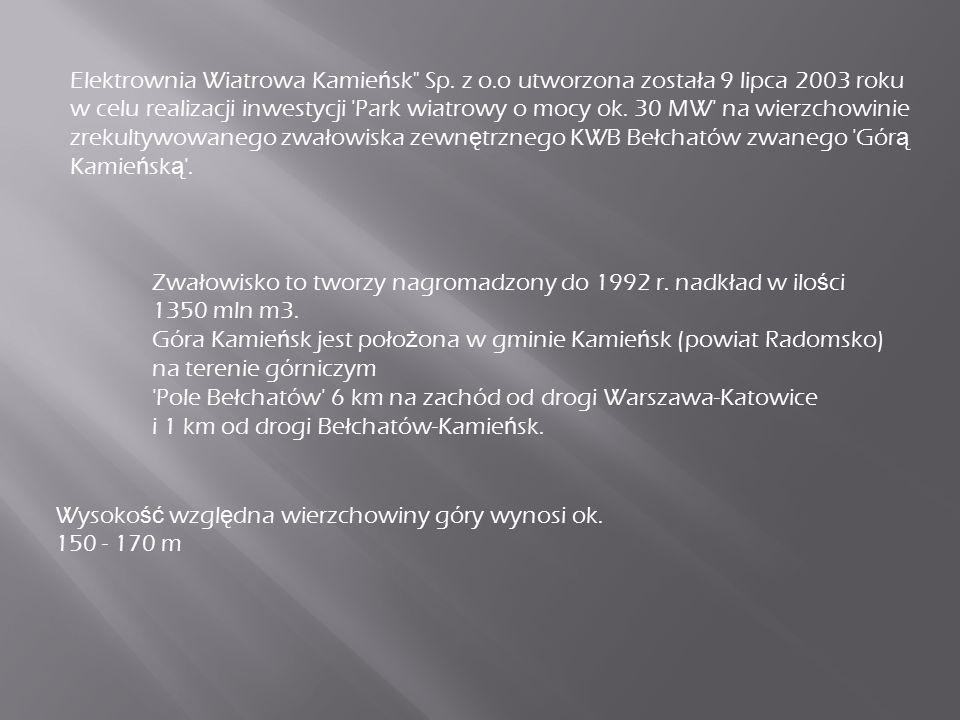 Elektrownia Wiatrowa Kamie ń sk Sp.