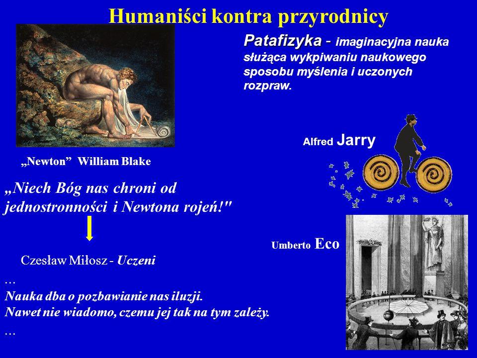 """Patafizyka - Patafizyka - imaginacyjna nauka służąca wykpiwaniu naukowego sposobu myślenia i uczonych rozpraw. Alfred Jarry """"Newton"""" William Blake Cze"""