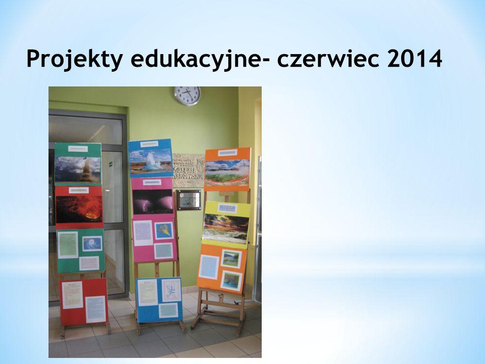 Projekty edukacyjne- czerwiec 2014