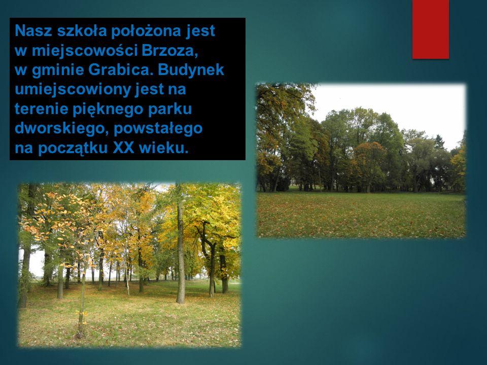 Nasz szkoła położona jest w miejscowości Brzoza, w gminie Grabica.